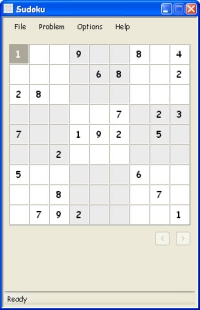 Sudoku Main Window